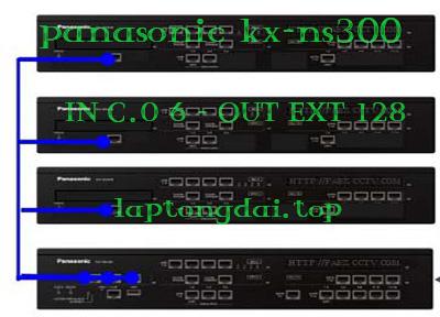 tổng đài Panasonic KX-NS300-6-128